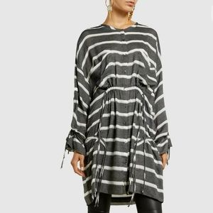 IRO Jeans Kelia Stripe Button Down Shirt Dress